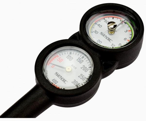 Seac Sub 2 zweier Konsole Finimeter Manometer Tiefenmesser tauchen Flaschendruck Messgerät
