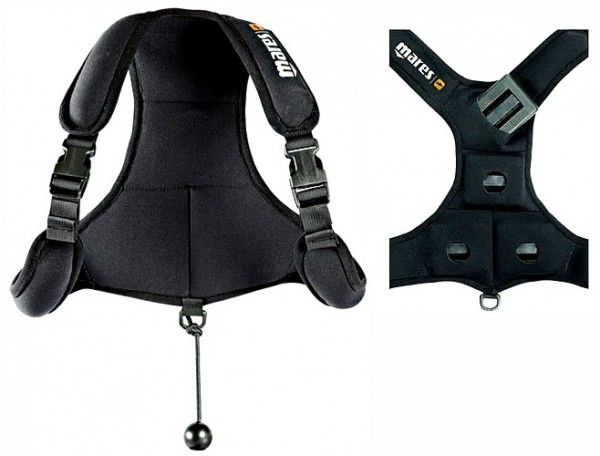 Mares Packback black Apnoe Blei Weste Gewichtsjacke