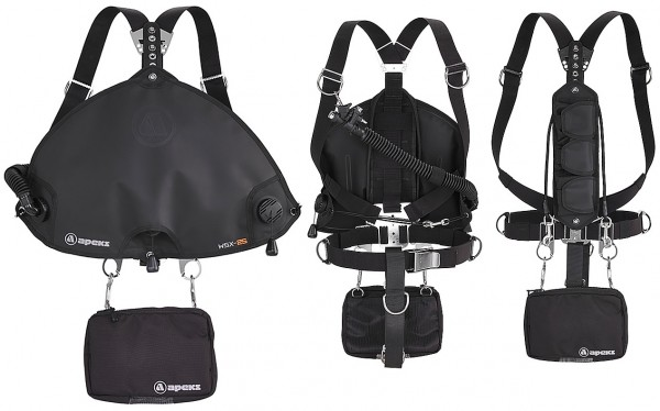 Apeks WSX-25 WSX 25 Sidemount Harness Sidemount Tarier Einheit Set komplett Jacket