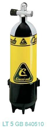 Cressi Tauchflasche Taucher Flasche Pressluftflaschen 5 Liter Taucherflasche Faber