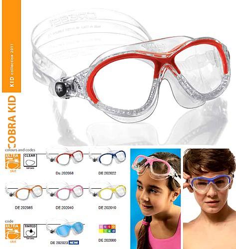 Cressi Corbra kid Schwimmbrille Kinder Schwimm Brille Maske