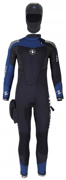 Aqua Lung Dynaflex Jumpsuit FS BZ 7 mm Tauchanzug Herren Taucher Anzug separater Kopfhaube