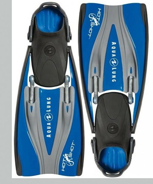 Aqua Lung Hot Shot blau Gr. Small Tauchflossen Taucherflossen Taucher Flossen mit oder ohne Füssling