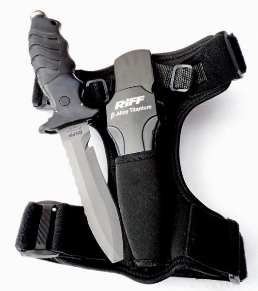 Riff Tauchermesser Tauchmesser Titan Klinge Titanium Messer