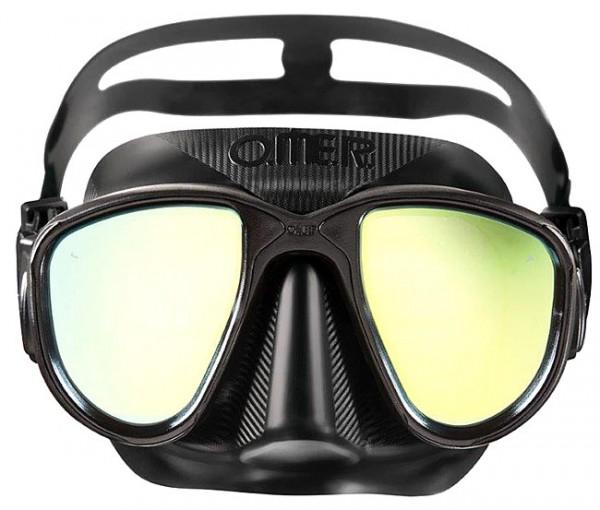 Omer Alien black schwarz Apnoe Maske Freitauchmaske Taucher Brille tauchen Freitauchen Speefishing