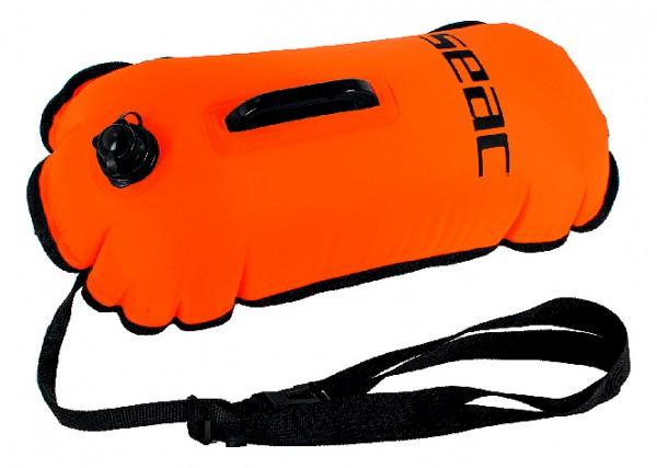 Seac Sub Hydra Schwimmboje Schwimm Boje schwimmen leuchtend orange mit Halte Griff Bänderung und Ven