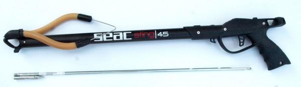 Seac Sub New Sting 45 Harpune rubber gun Gummizug schwarz Unterwasser Schießgerät speergun