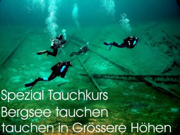 Bergsee tauchen Tauchen in grössere Hohen Tauchkurs Padi Spezial Taucher Kurs