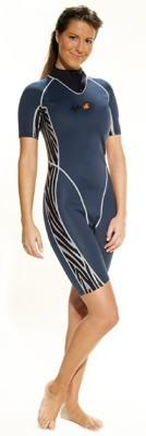 IQ Company Damen Shorty Safari 3mm Neopren kurzer Tauchanzug Taucher Anzug