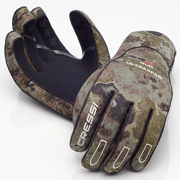 Cressi Camouflage Apnoe Tauchhandschuhe Gr. S Camou Ultra Span 2,5mm Taucher Handschuhe