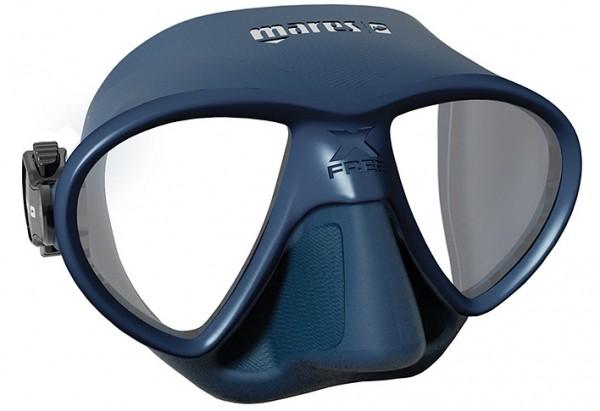 Mares X-Free Apnoe Maske Brille Freitaucher X Free blau Tauchmaske Freitauchmaske Taucher tauchen