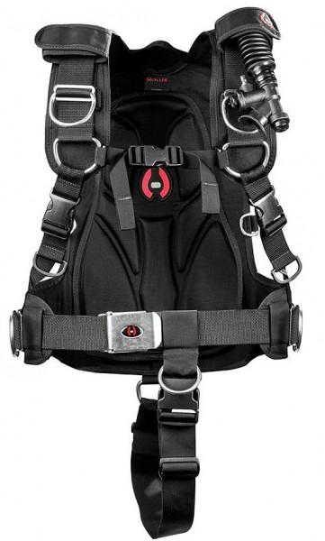 Hollis HTS 2 Harness System weiches Taucher Rücken Back Plate Platte TECH TEK Backplate
