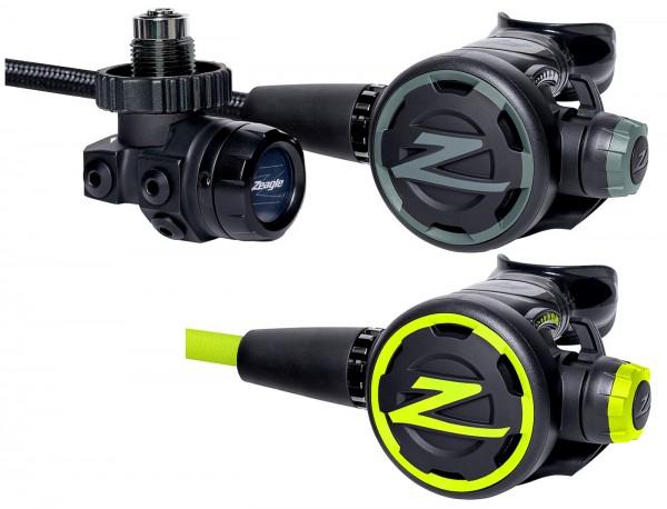 Zeagle F8 Regulator Atemregler Set inkl Oktopus DIN Anschluss Kaltwasser Regler