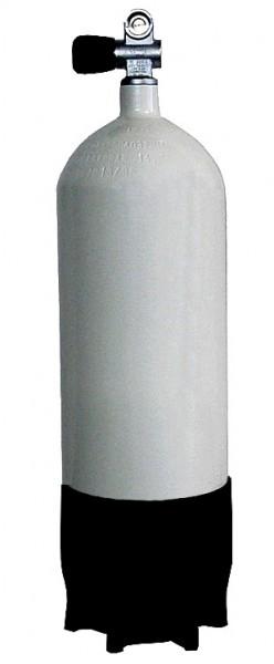 Faber 8 Liter 200 Bar Tauchflasche mit Ventil Standfuss Pressluftflasche Stahlflasche