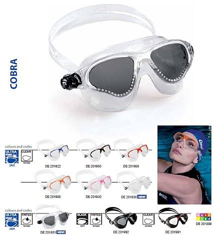 Schwimmbrille Schwimmmaske Cressi Cobra Schwimm Maske Brille Silikon
